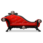 Red Skull Chaise Lounge