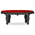 Carved Stone Gothic Table