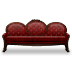 Red Luxe Sofa