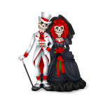 Skeleton Wedding Couple