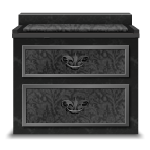 Gothic Stone Bedside Table