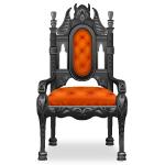 Orange Gothic Chair