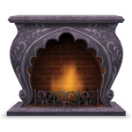Curved Gothic Fireplace