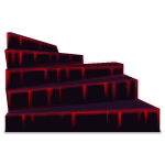 Stairs with Dripping Red Glow