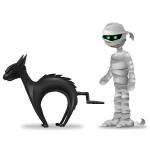 Animated Mummy and Cat