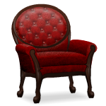 Red Luxe Armchair