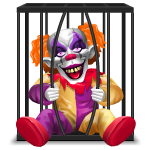Animated Clown in Cage