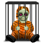 Creepy Prisoner in Cage