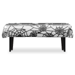 Table with White Spider Web Tablecloth