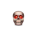 Animated Red Eyed Skull