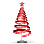 Red Spiral Christmas Tree