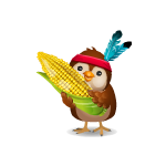Animated Chick with Corn