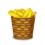 Basket with Corn
