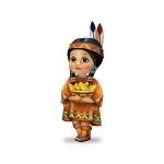 Toy Indian Girl with Basket