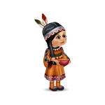 Toy Indian Girl with Pot