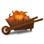 Toy Pumpkin Cart