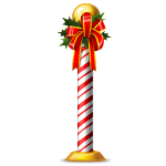 Candy Cane Column With Bow