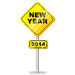 New Year 2014 Sign