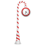 Candy Cane Clock