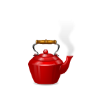 Boiling Hot Red Teapot