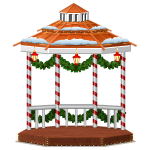 Christmas Village Gazebo