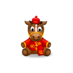 Chinese New Year Red Cap Horse Plushie