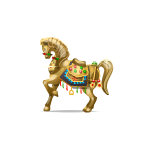 Gold Horse Figurine
