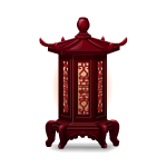 Ming Dynasty Red Wood Lantern