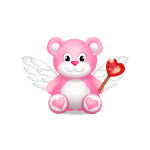 Pink Angel Teddy Tickle Me