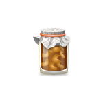 Dried Pears in Glass Jar