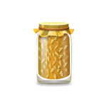 Corn in Glass Jar