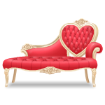 Elegant Lounge Sofa with Red Cushions