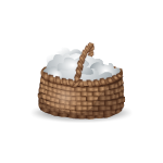 Basket with Cotton