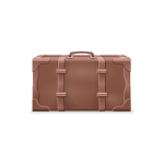 Brown Leather Travel Suitcase
