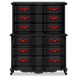 Black and Red Gothic Dresser
