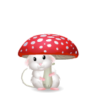 Mouse with Mushroom Umbrella