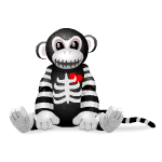 Skeleton Sock Monkey Plushie