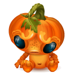 Grumpy Pumpkin Monster