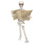 Animated Skeleton with Newspaper