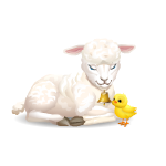 Animated Lamb with Chick