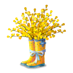 Yellow Flowers in Rain Boots
