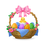 Animated Basket with Chicks