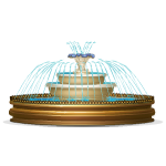 Elegant Gold Trimmed Fountain
