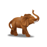 Hand Carved African Elephant
