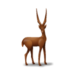 Hand Carved African Gazelle