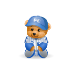 Handy Bear Baseball Player