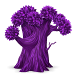 Purple Oak Tree