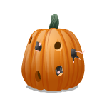 Pumpkin with Playful Mice