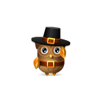 Thankful Pilgrim Boy Owl