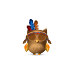 Thankful Indian Girl Owl